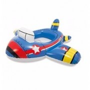 Intex Kiddie Inflatable Swim Pool Water Float Ring Cruiser Jet Plane Shape For Ages 1+