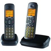 Gigaset A500 Duo Black cordless landline phone with caller id speakerphone