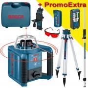 BOSCH GRL 300 HV Nivela laser rotativa (300 m) + BT 160 + GR 240 Trepied + Rigla