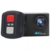 CAOMING H6A HD 1080P Cámara Deportiva WiFi con Control Remoto y Estuche Impermeable, Generalplus 4247, Pantalla LCD de 2.0 Pulgadas, Lente Gran Angular de 140 Grados Durable (Color : Black)