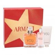 Giorgio Armani Emporio Armani In Love With You darčeková kazeta pre ženy parfumovaná voda 100 ml + parfumovaná voda 15 ml + krém na ruky 50 ml