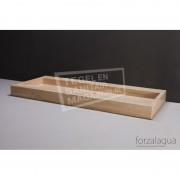 Forzalaqua Palermo Wastafel 120 cm Travertin Gezoet 120,5x51,5x9 cm 1 wasbak 1 kraangat