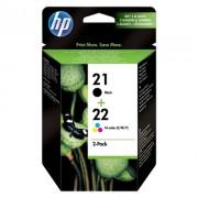 Tinteiro HP 21/22 Combo Pack Preto/Cyan/Mag/Amar - SD367AE