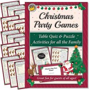 eDigital Creations Party Supplies Christmas Games: Table Quiz and Puzzle Activities for Family, Office & Xmas Parties