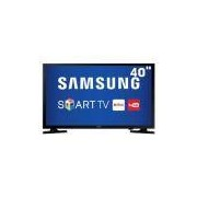 Smart TV LED 40 Full HD Samsung 40J5200 com Connect Share Movie, Screen Mirroring, Wi-Fi, Entrada HDMI e USB