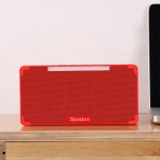 A2 Portable Heavy Bass Stereo Bluetooth Speaker Built-in Mic Support Hands-free TF Card AUX U Disk For iPhone Samsung Huawei Xiaomi HTC and Other Smartphones Bluetooth Distance: about 10m (Red)
