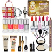 Pack of 24 Pieces Professional Beauty Combo Makeup Sets Dhamaka With Watch