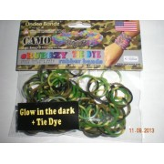 Rubbzy Glow in the Dark Camouflage Tie Dye Loose Rubber Bands