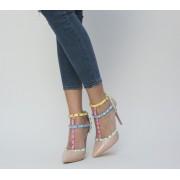 Обувки с ток в бежов цвят