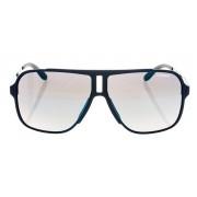 Óculos de Sol Carrera Vosdk 122S Azul marinho Fosco com Lente Marrom degradê Espelhada Azul
