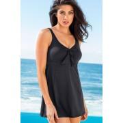 Womens Quayside Secret Support Dress Swimsuit - Black