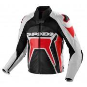 Spidi Warrior 2 Chaqueta de cuero moto Negro Rojo 52