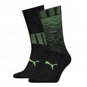 Puma sokken heren Black / Yellow 2-pack-43/46