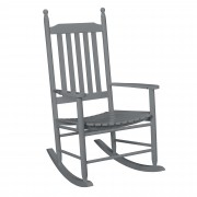 Люлеещ се стол от масивно дърво [casa.pro]® 115 x 62cm , Сив