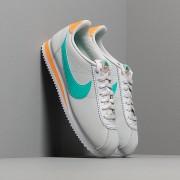 Nike Wmns Classic Cortez Leather Pure Platinum/ Hyper Jade-Fuel Orange