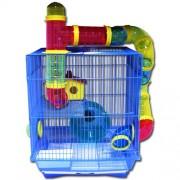 Max H328 Klec modrá pro křečka - myš - klec na hlodavce 400 x 330 x 260 mm