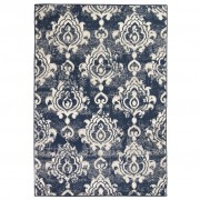 vidaXL Модерен килим, пейсли дизайн, 120x170 см, бежово/синьо
