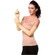 Tahiro Beige Cotton Full Arm Gloves For Women - Pack Of 1