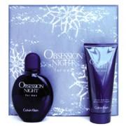 Calvin Klein Obsession Night Men Gift Set EDT Spray 75ml + Shower Gel 100ml