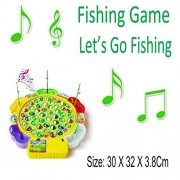 Fishing Game - Kids Colorful Electronic Musical Rotating Toy With 45 Fishing 4 Fish Rods Parent-Child Funny Creativity Logical Thinking Ability Game - (Green)