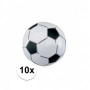 Geen 10x Opblaasbare voetballen strandbal