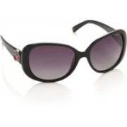 Polaroid Oval Sunglasses(Violet)