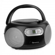 Auna Haddaway CD Boombox CD-Player Bluetooth UKW AUX-IN LED-Display schwarz
