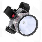 EMERGENCY HEADLIGHT TORCH HEADLAMP 1 LED RECHARGEABLE FLASHLIGHT