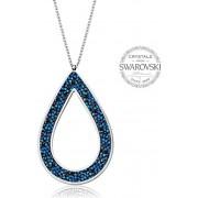 Levien Colier frumos cu cristale SS Rocks Pear 49 albastru bermuda