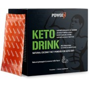 PowGen Keto Drink Con 75% de polvo MCT de coco puro Sin aceite de palma 10 sobres (15 g) para 10 días