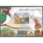 India 2016 Tourism Miniature Sheet MS Taj Mahal Independence...