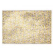 Miliboo Tapis écru à motifs jaune 160 x 230 cm SOHO