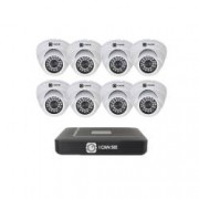 Kit supraveghere ICANSEE ICS-KU100-8P cu 8 camera de interior DVR 8 canale Full HD 1 canal audio
