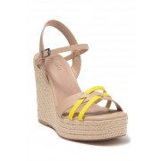 Charles David Dulce Crisscross Espadrille Wedge Sandal NUDE-SUNSY