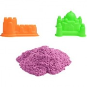 UNTOLD 350GM MAGIC SAND COLORFUL SAND WITH 2 PIECE MOLDS - PINK COLOR