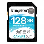 Kingston SDXC Canvas Go 90R/45W CL10 U3 V30, 128GB