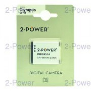 2-Power Digitalkamera Batteri Olympus 3.6v 550mAh (LI-70B)