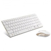 Arion Rapoo 9160 2.4G 5.6mm Ultra-Slim Wireless Keyboard and Mouse 2-in-1 Combo - Gold Limited Edition