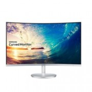 "Монитор Samsung C27F591FDUX, 27"" (68.58 cm) VA панел, Full HD Curved, 4ms, 250 cd/m2, HDMI, DisplayPort, Сребрист/Бял"