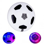 Egoelife Air Power Soccer Disc Football Suspension Gliding Indoor Outdoor Toy with Flashing Light