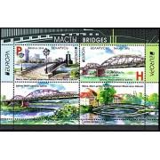 Belarus 2018 Bridge Bridges Architecture Europa CEPT Miniature Souvenir Sheet