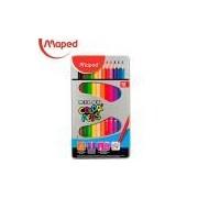 Lápis de Cor Color Peps Caixa Metal x 12, Maped 25, Multicor