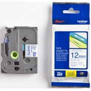 BROTHER TZ Tape, 12mm Blue on White, Laminated, 8m lenght, for P-Touch (TZE233)