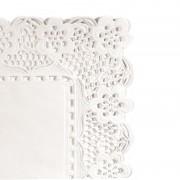 AZ boutique Dentelle rectangulaire blanche en papier 40x30 cm - Lot de 250 - Dentelles papier - AZ boutique