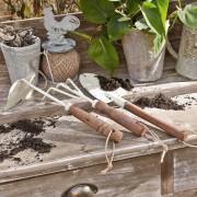 LOBERON Gartengerät 3er Set Barro