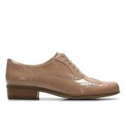 Clarks Sapatos derbies em pele envernizada, Hamble Oaknude- 37