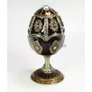 Böhme Musikspieluhren Spieluhren-Schmuck-Ei dunkelrot Spieluhr nach Faberge-Art aus emailiertem Metall