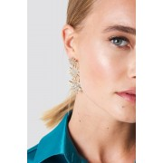 NA-KD Party Hanging Sparkling Stars Earrings - Smycken - Gold