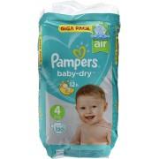 Hygienepapier.nl Pampers 120stuks Baby Dry luiers nr 4 (9-14kg) (4015400833871)