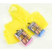 Child Pink Re-Usable PVC Ponchos